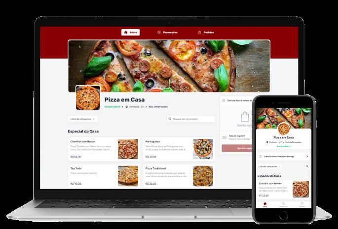 Mobile e Desktop Pizzaria 2